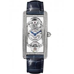 HPI01123 Cartier Tank Cintree Skeleton Platinum Diamond Watch