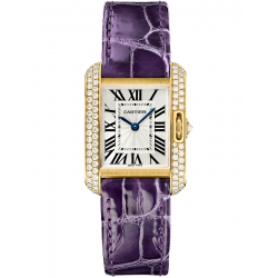 Cartier Tank Anglaise Small Yellow Gold Diamond Watch WT100014