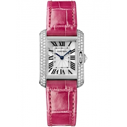 Cartier Tank Anglaise Small White Gold Diamond Watch WT100015