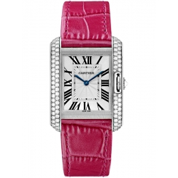 Cartier Tank Anglaise Medium White Gold Diamond Watch WT100030