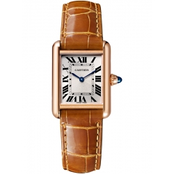 Tank Louis Cartier Small 18K Pink Gold Leather Watch WGTA0010