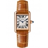 WGTA0010 Tank Louis Cartier Small 18K Pink Gold Brown Leather Watch