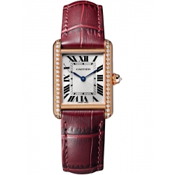 Tank Louis Cartier Small Diamond 18K Pink Gold Watch WJTA0010