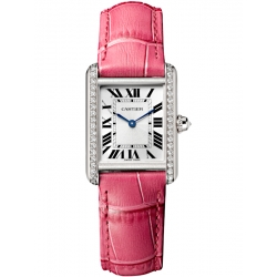 Tank Louis Cartier Small Diamond 18K White Gold Watch WJTA0011