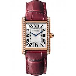 Tank Louis Cartier Large Diamond 18K Pink Gold Watch WJTA0014