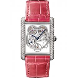 Tank Louis Cartier XL Skeleton Diamond White Gold Watch HPI00705