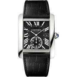 Cartier Tank MC Large Steel Case Black Dial Watch W5330004