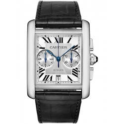 Cartier Tank MC Chronograph Large Silver Dial Watch W5330007