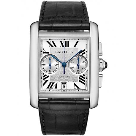 W5330007 Cartier Tank MC Chronograph Large Silver Dial Mens Watch