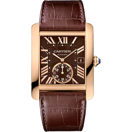 Cartier Tank MC Large 18K Pink Gold Brown Dial Watch W5330002