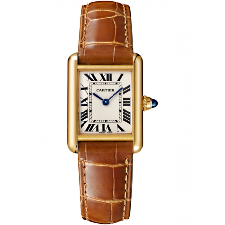 W1529856 Tank Louis Cartier Small 18K Yellow Gold Leather Watch
