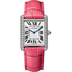 Tank Louis Cartier Large Diamond 18K White Gold Watch WJTA0015