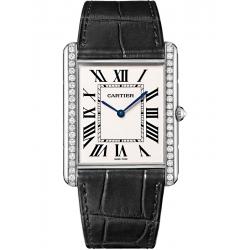 WT200006 Tank Louis Cartier XL Diamond 18K White Gold Mens Watch