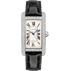 Cartier Tank Americaine Medium Diamond White Gold Watch WB710002