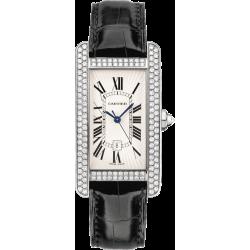 Cartier Tank Americaine Medium Diamond White Gold Watch WB710002