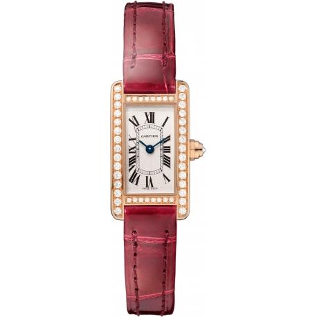 WB710014 Cartier Tank Americaine Mini Diamond 18K Pink Gold Watch
