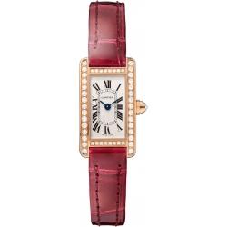 Cartier Tank Americaine Mini Diamond Pink Gold Watch WB710014