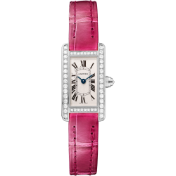 Cartier Tank Americaine Mini Diamond White Gold Watch WB710015