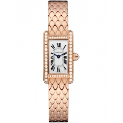 Cartier Tank Americaine Mini Diamond Pink Gold Watch WB710012