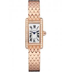 Cartier Tank Americaine Mini Diamond Pink Gold Watch WB710012
