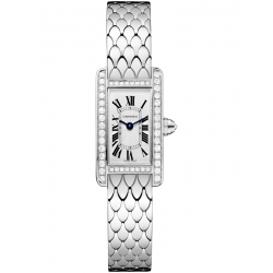 Cartier Tank Americaine Mini Diamond White Gold Watch WB710013