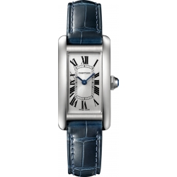 Cartier Tank Americaine Small Steel Leather Watch WSTA0016