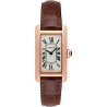 W2607456 Cartier Tank Americaine Small 18K Rose Gold Leather Watch