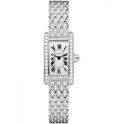 Cartier Tank Americaine Mini Diamond White Gold Watch HPI00724