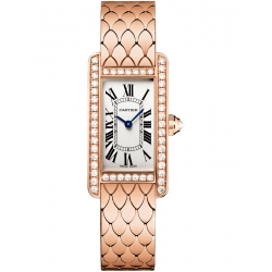 Cartier Tank Americaine Small Pink Gold Diamond Watch WB710008
