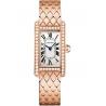 WB710008 Cartier Tank Americaine Small Pink Gold Bracelet Diamond Watch