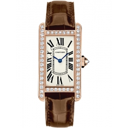 Cartier Tank Americaine Small Pink Gold Diamond Watch WJTA0002