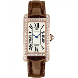 Cartier Tank Americaine Small Pink Gold Diamond Watch WJTA0002