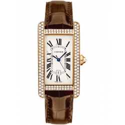 Cartier Tank Americaine Medium Diamond Pink Gold Watch WB704751