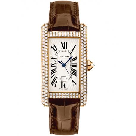 WB704751 Cartier Tank Americaine Medium Diamond 18K Pink Gold Watch