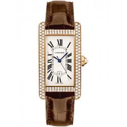 Cartier Tank Americaine Medium Diamond Pink Gold Watch WB704751