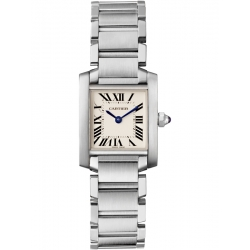 Cartier Tank Francaise Small Steel Bracelet Watch W51008Q3