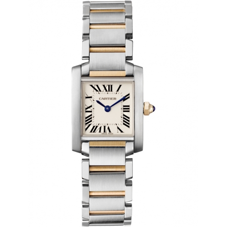 W51007Q4 Cartier Tank Francaise Small Steel Yellow Gold Watch
