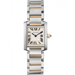 Cartier Tank Francaise Small Steel Yellow Gold Watch W51007Q4