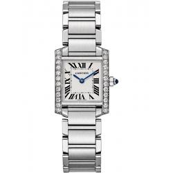 Cartier Tank Francaise Small Diamond Steel Watch W4TA0008