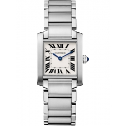 Cartier Tank Francaise Medium Steel Bracelet Watch WSTA0005