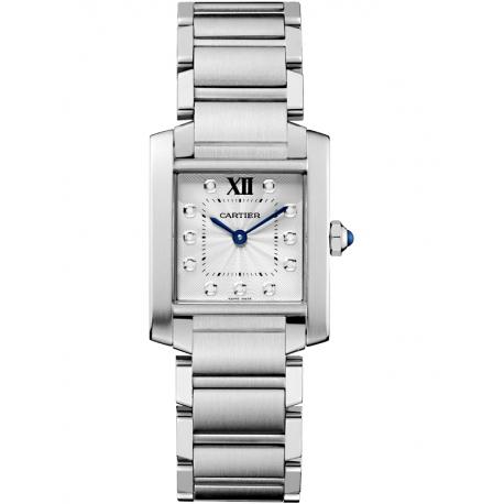 WE110007 Cartier Tank Francaise Medium Diamond Dial Steel Watch