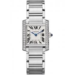 Cartier Tank Francaise Medium Diamond Steel Watch W4TA0009