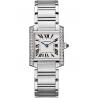 W4TA0009 Cartier Tank Francaise Medium Diamond Steel Watch