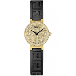 Limited Fendi Forever 18K Yellow Gold Diamond Dial 19mm Watch