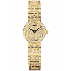 Limited Fendi Forever Yellow Gold Diamond Bracelet 19mm Watch