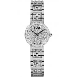 Limited Fendi Forever Stainless Steel Diamond Bracelet 19mm Watch