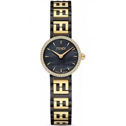 Fendi Forever Diamond Bezel Two Tone Steel Bracelet 19mm Watch F103220801