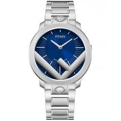 Fendi Run Away 41mm Blue Dial Steel Bracelet Mens Watch F711013000