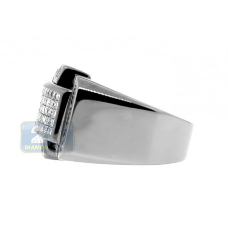 Black PVD 14K Gold 1.12 ct Princess Cut Diamond Mens Ring