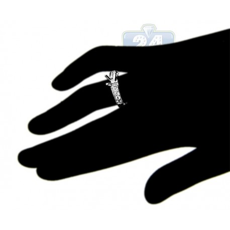 18K White Gold 0.49 ct Diamond Vintage Engagement Ring Setting